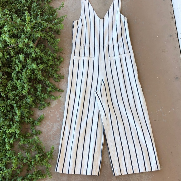 Madewell Pants - Madewell Striped Pull-On Jumpsuit Coverall